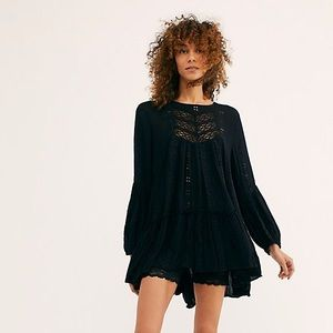 Free People Black Kiss Kiss Tunic